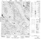 106E12 Bear Lake Canadian topographic map, 1:50,000 scale from Yukon Map Store