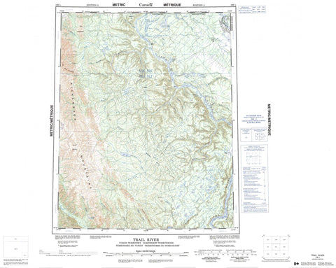 106L Trail River Canadian topographic map, 1:250,000 scale