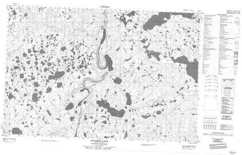107A04 Hyndman Lake Canadian topographic map, 1:50,000 scale