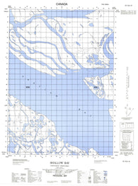 107B13W Shallow Bay Canadian topographic map, 1:50,000 scale