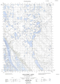 107B14E Wolverine Lakes Canadian topographic map, 1:50,000 scale