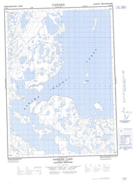 107B15E Parsons Lake Canadian topographic map, 1:50,000 scale
