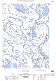 107C04E Ellice Island Canadian topographic map, 1:50,000 scale