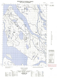 107C04W Ellice Island Canadian topographic map, 1:50,000 scale