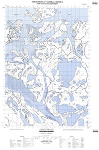 107C05E Garry Island Canadian topographic map, 1:50,000 scale
