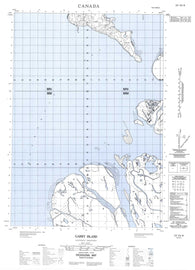 107C05W Garry Island Canadian topographic map, 1:50,000 scale