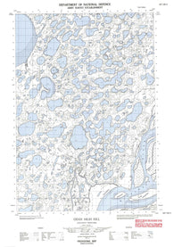 107C06E Denis High Hill Canadian topographic map, 1:50,000 scale