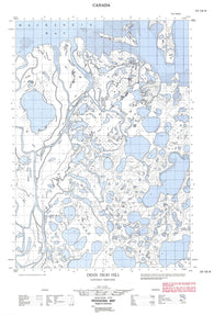 107C06W Denis High Hill Canadian topographic map, 1:50,000 scale