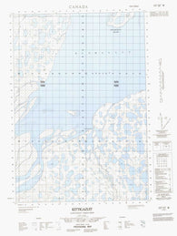 107C07W Kittigazuit Canadian topographic map, 1:50,000 scale