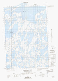 107C09E Hutchison Bay Canadian topographic map, 1:50,000 scale