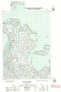107C11E Hansen Harbour Canadian topographic map, 1:50,000 scale