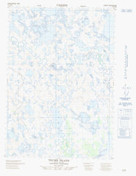 107D06E Thumb Island Canadian topographic map, 1:50,000 scale
