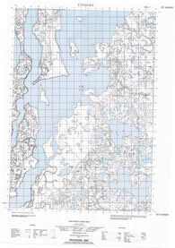 107D06W No Title Canadian topographic map, 1:50,000 scale