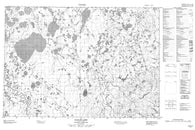 107D07 Kaglik Lake Canadian topographic map, 1:50,000 scale