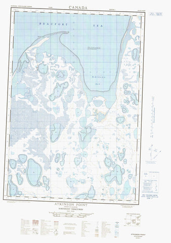 107D13E Atkinson Point Canadian topographic map, 1:50,000 scale