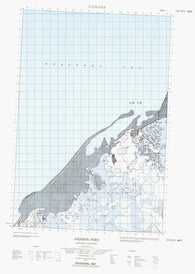 107D13W Atkinson Point Canadian topographic map, 1:50,000 scale