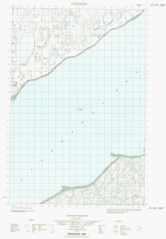 107D15W No Title Canadian topographic map, 1:50,000 scale