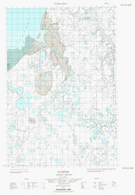 107D16E Stanton Canadian topographic map, 1:50,000 scale