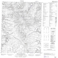 116P01 Mount Sittichinli Canadian topographic map, 1:50,000 scale