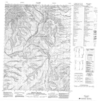 116P08 Mount Millen Canadian topographic map, 1:50,000 scale