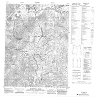 116P09 Mcdougall Pass Canadian topographic map, 1:50,000 scale