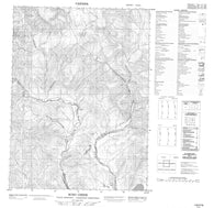 116P16 Scho Creek Canadian topographic map, 1:50,000 scale