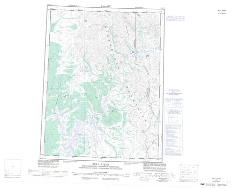 116P Bell River Canadian topographic map, 1:250,000 scale