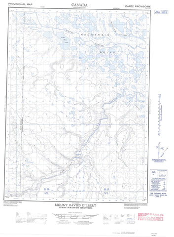 117A09E Mount Davies Gilbert Canadian topographic map, 1:50,000 scale