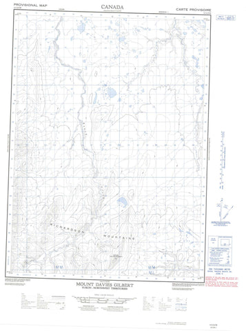 117A09W Mount Davies Gilbert Canadian topographic map, 1:50,000 scale