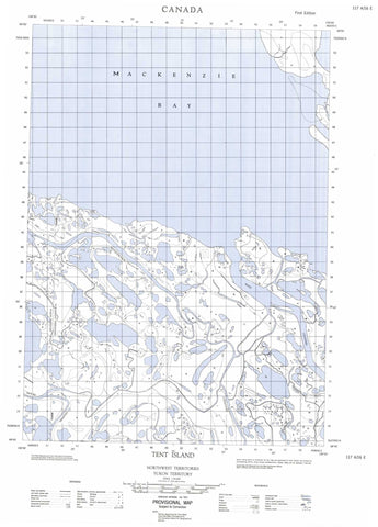 117A16E Tent Island Canadian topographic map, 1:50,000 scale