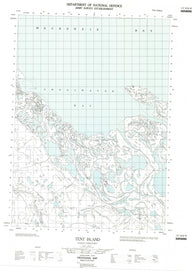117A16W Tent Island Canadian topographic map, 1:50,000 scale