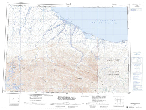 117C Demarcation Point Canadian topographic map, 1:250,000 scale