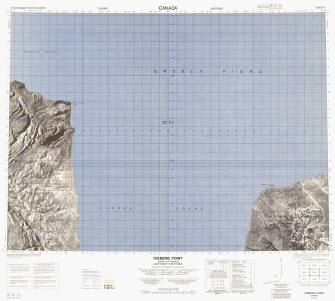 340B05 Iceberg Point Canadian topographic map, 1:50,000 scale