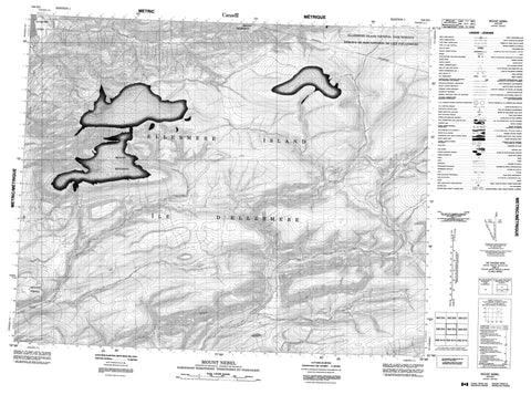 340D03 Mount Nebel Canadian topographic map, 1:50,000 scale