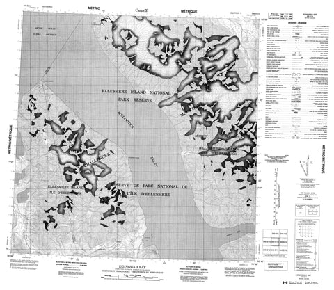 340E14 Egingwah Bay Canadian topographic map, 1:50,000 scale