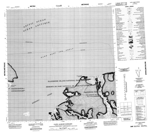 340H01 Cape Albert Edward Canadian topographic map, 1:50,000 scale