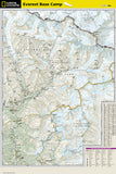 Everest Base Camp, Nepal, Adventure Map 3001 by National Geographic Maps - Back of map
