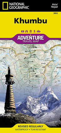 Buy map Khumbu, Nepal AdventureMap by National Geographic Maps