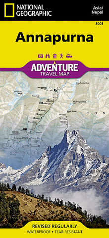 Buy map Annapurna, Nepal Adventure Map 3003 by National Geographic Maps