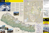 Annapurna, Nepal Adventure Map 3003 by National Geographic Maps - Front of map