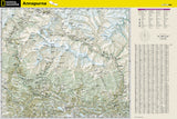 Annapurna, Nepal Adventure Map 3003 by National Geographic Maps - Back of map