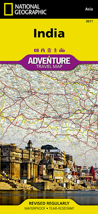 Buy map India Adventure Map 3011 by National Geographic Maps