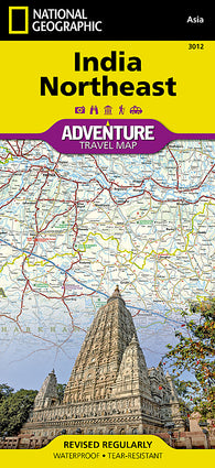 Buy map India, Northeast Adventure Map 3012 by National Geographic Maps