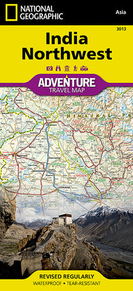 Buy map India, Northwest Adventure Map 3013 by National Geographic Maps