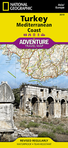 Buy map Turkey & Mediterranean Coast Adventure Map 3019 by National Geographic Maps