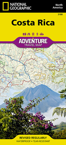 Buy map Costa Rica Adventure Map 3100 by National Geographic Maps
