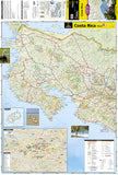 Costa Rica Adventure Map 3100 by National Geographic Maps - Front of map