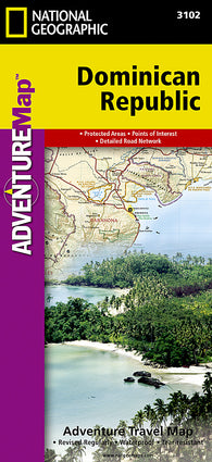 Buy map Dominican Republic Adventure Map 3102 by National Geographic Maps