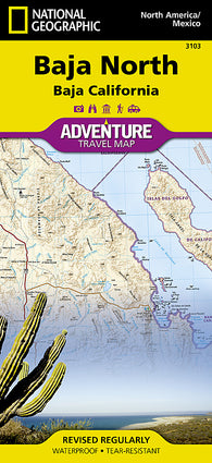 Buy map Baja California, North Adventure Map 3103 by National Geographic Maps