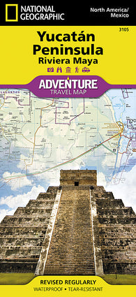 Buy map Yucatan, Mexico Adventure Map 3105 by National Geographic Maps
